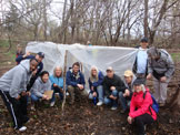 photo: School Forest under a plastic tent