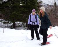 Photo of teacher snowing shoeing