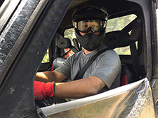 atv rider wearing seatbelt