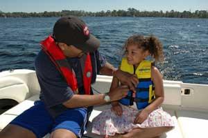 life vest on a child