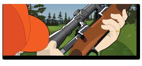 Hunter sighting in