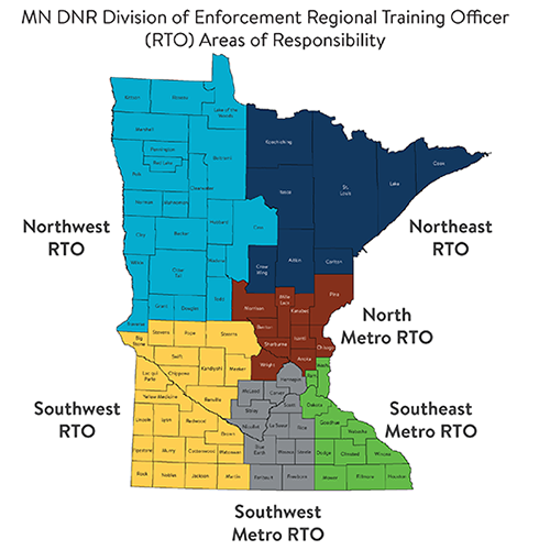state of minnesota map with RTO areas - counties are listed under the RTO contacts