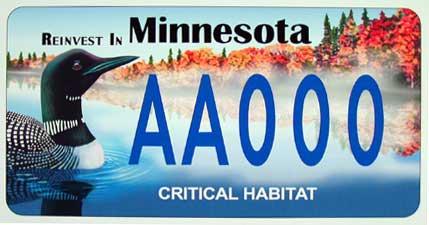 Critical habitat license plates - Minnesota DNR - MN Department of ...