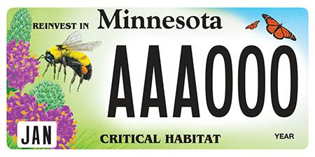 pollinator license plate