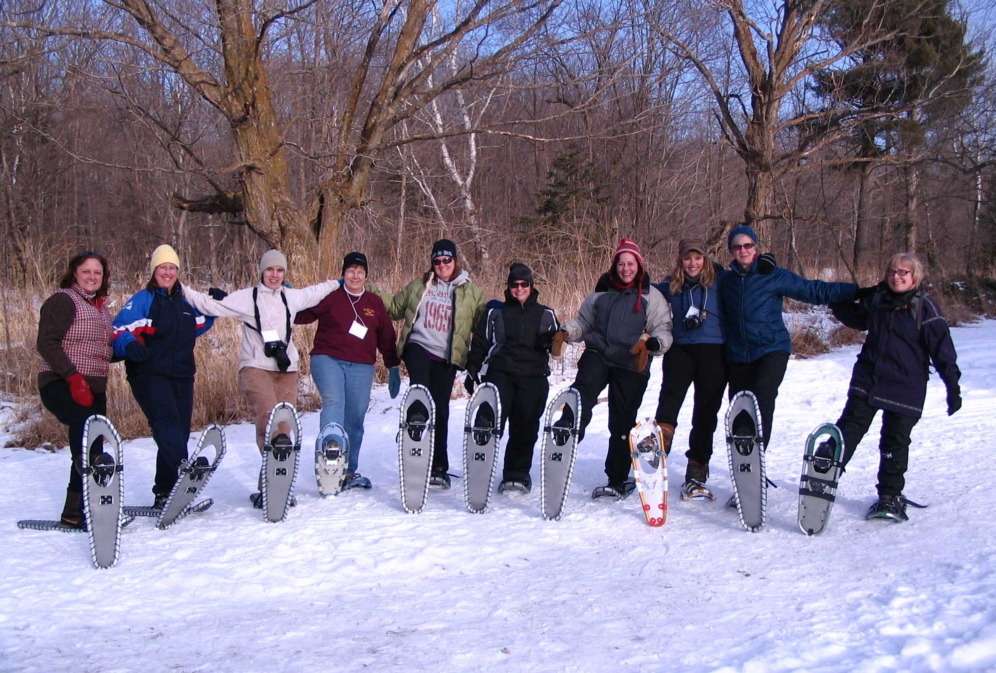 snowshoeing outing