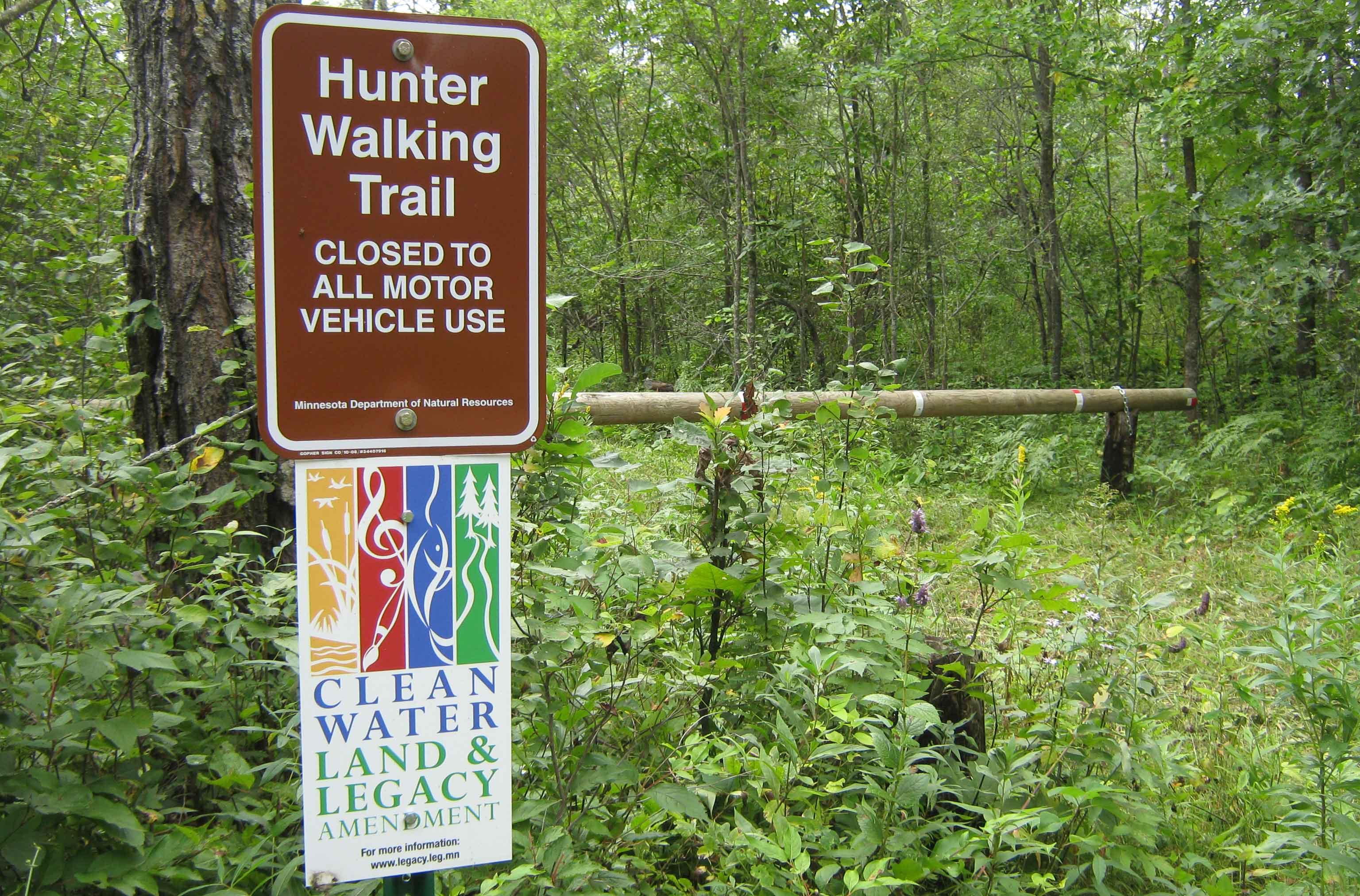 a hunter walking trail