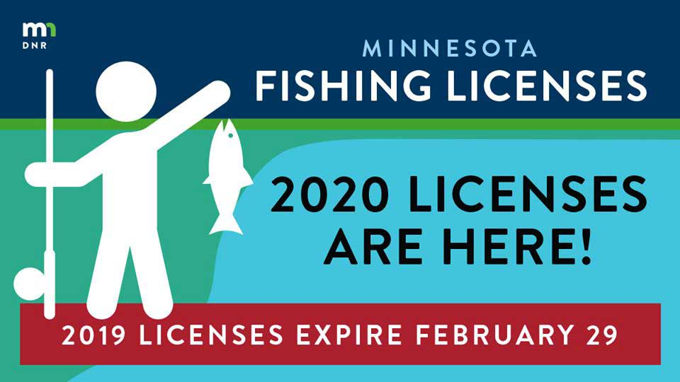 graphic about licenes for 2020 being available and DNR logo