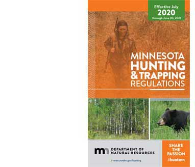 Cover of the 2020 hunting and trapping regulations book