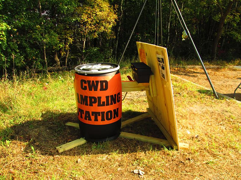 A self-service CWD sampling station