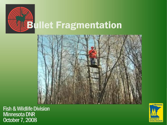View the DNR's Bullet Fragmentation Study