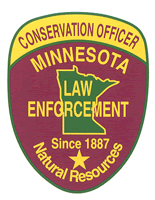 Minnesota DNR conservation officer patch.