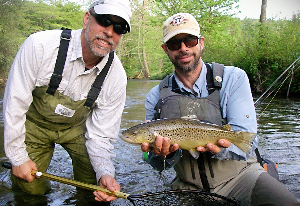 A mentor trout anlger with a mentee