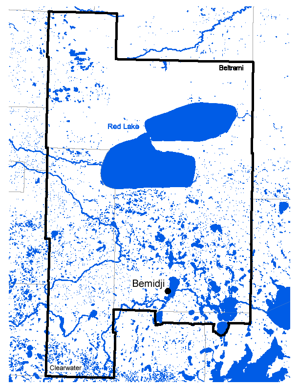 Map of Bemidji work area