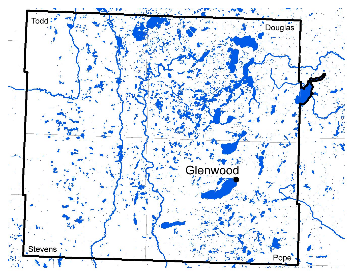 Map of Glenwood work area