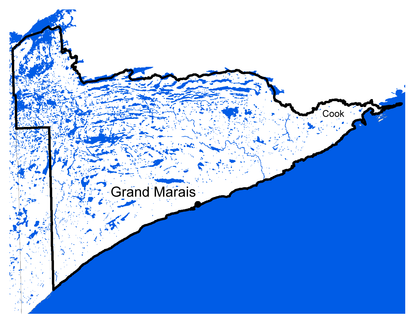 Map of Grand Marais work area
