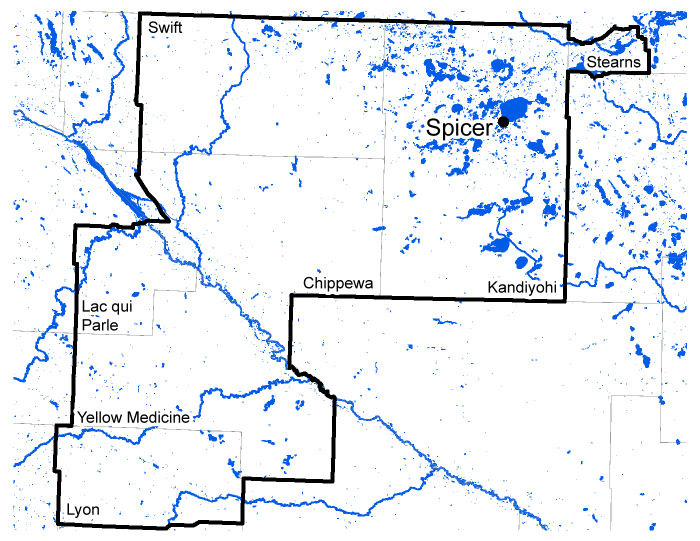 Map of Spicer work area