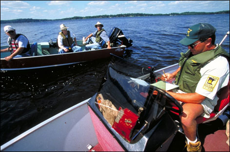 An angler survey on one of Minnesota's lakes