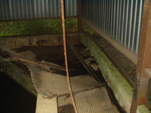 The spring that provides water to the hatchery can't be adequately covered, which is a potential biohazard.
