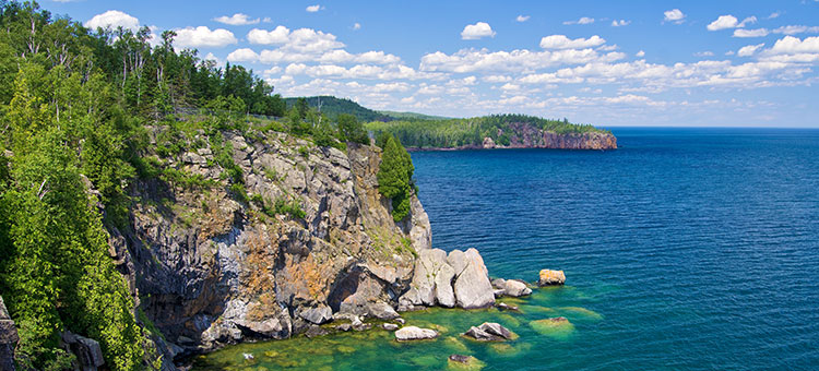 Minnesota's north shore of Lake Superior.