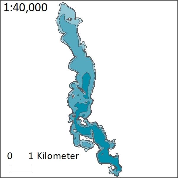 Depth of Artichoke Lake