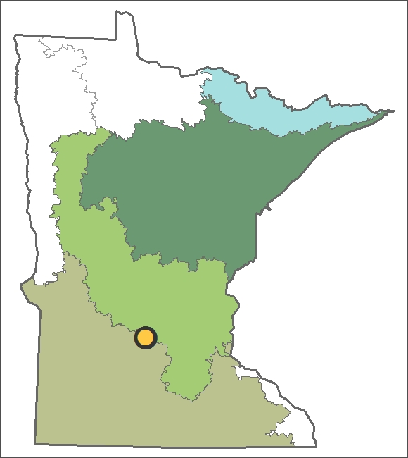Location of Belle Lake
