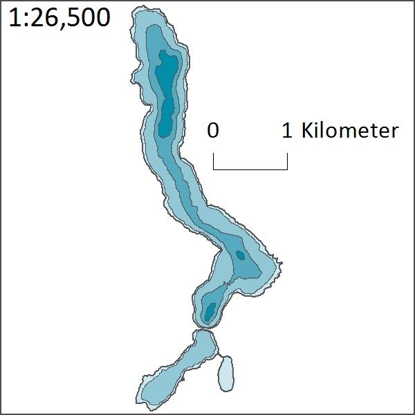 Depth of Hill Lake