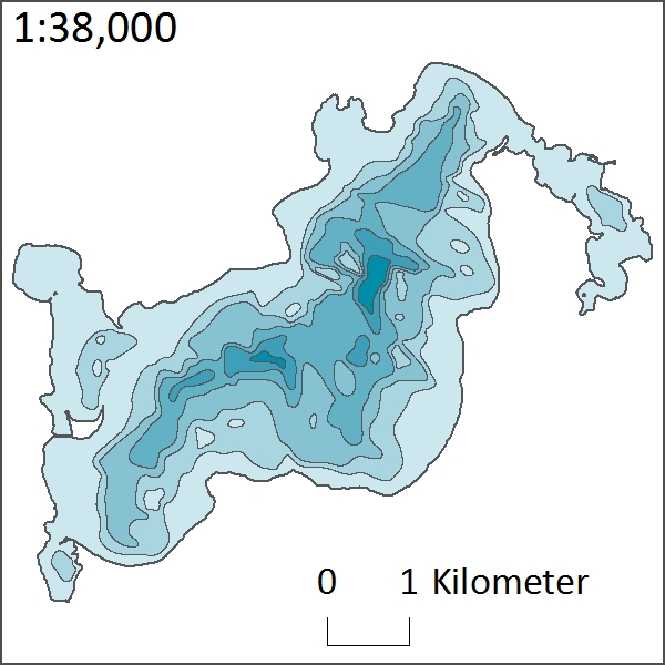 Depth of Ten Mile Lake
