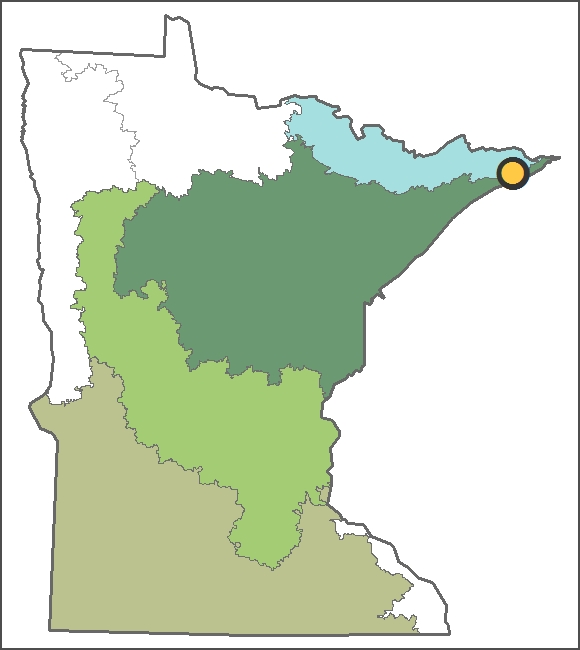 Location of Trout Lake