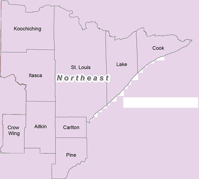Minnesota's northeat trout region
