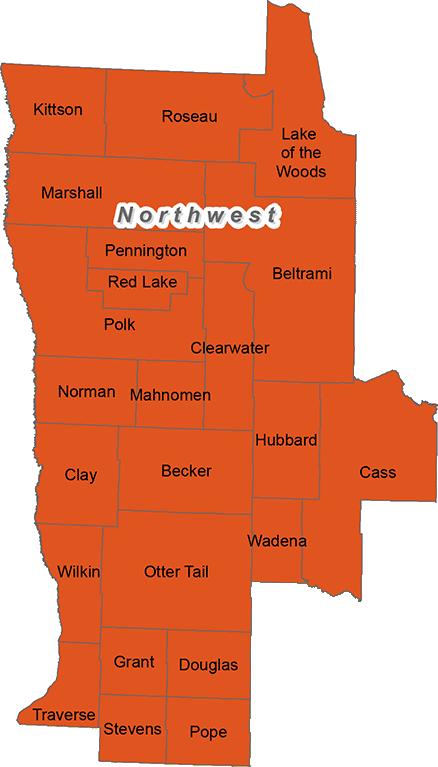 Minnesota's northwest trout region