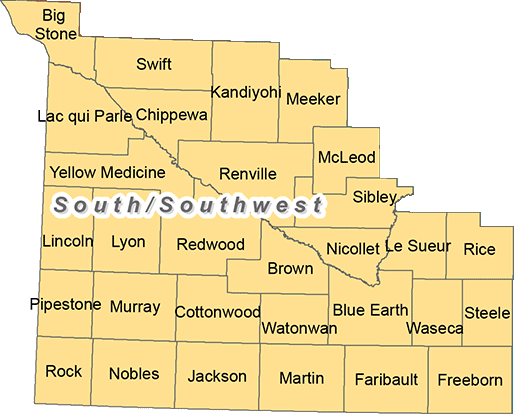 Minnesota's south and and southwest trout region