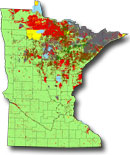 image: Map of state of Minnesota showing ownership across Minnesota