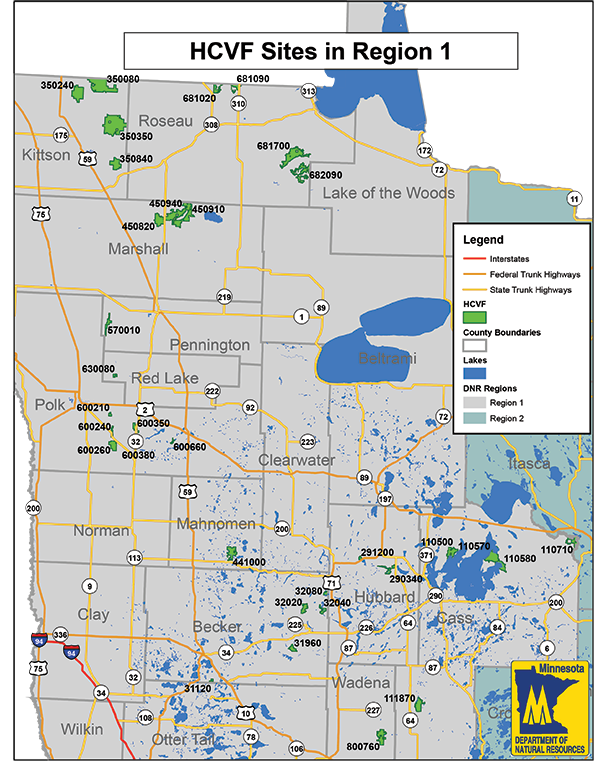 State of Minnesota map showing the 3 regions