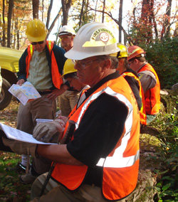 photo: MNDNR Forester reading audit report