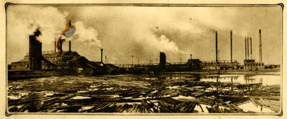 photo: The Virginia sawmill in its heyday.