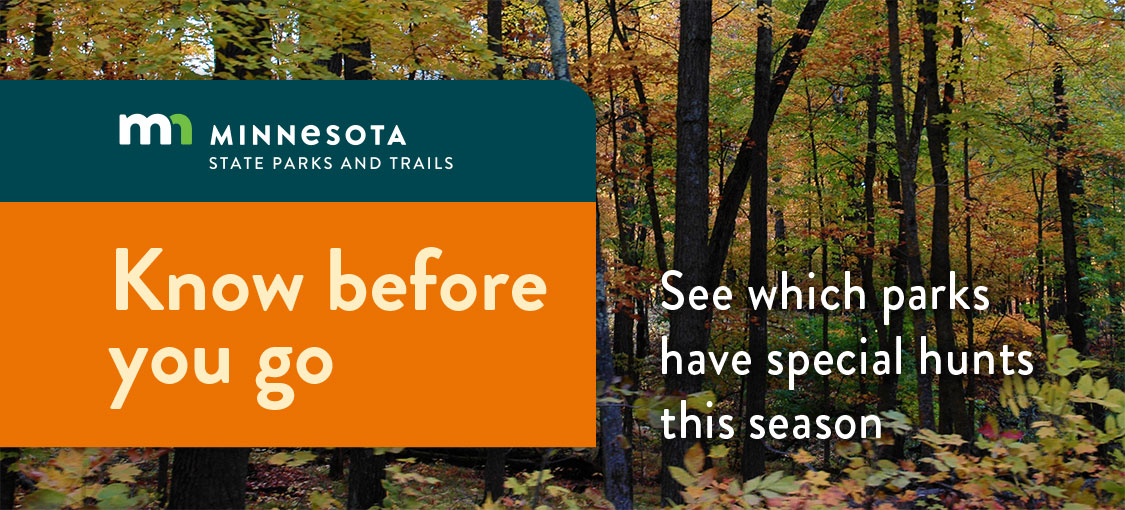 know before you go. see which parks have special hunts this season.