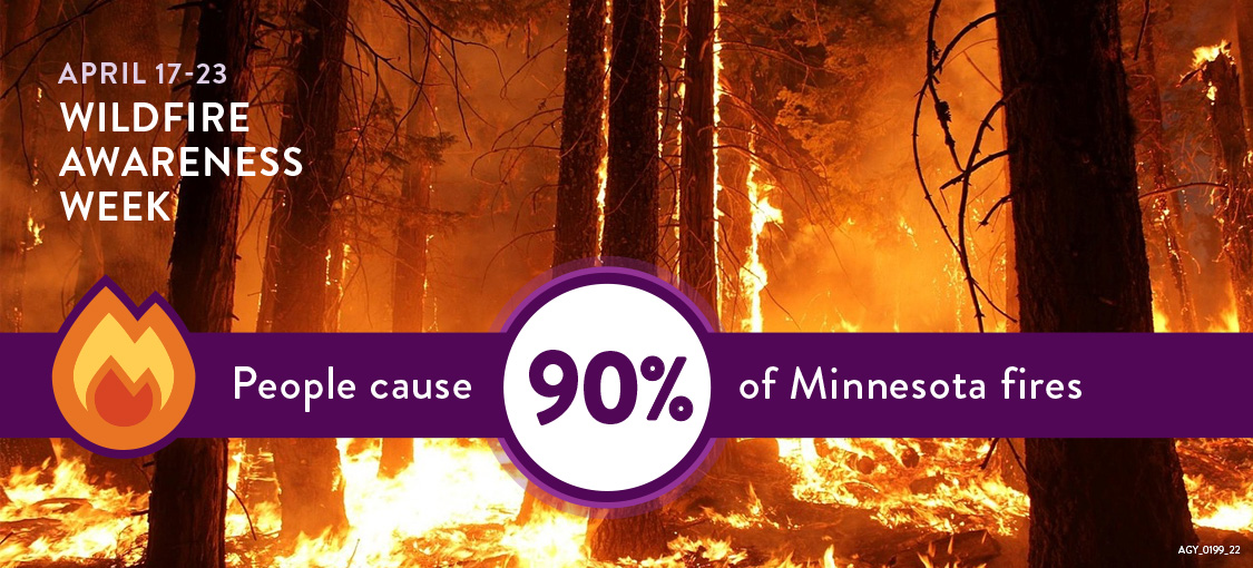 Wildfire Prevention Week- People start 90 percent of Minnesota wildfires.