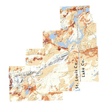 Northern St. Louis and Lake Counties Inset Map