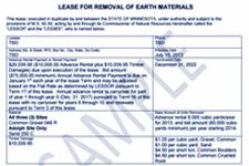 Sample lease document snapshot