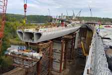 construction of concrete bridge in Minnesota