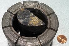 Diamond drill core and bit
