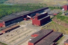 Air photo of PolyMet proposed plant site near Hoyt Lakes, Minnesota