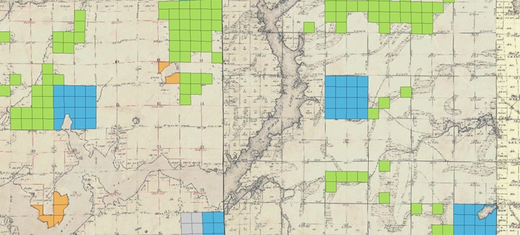 School Trust Land In Northern Minnesota shown on interactive web map
