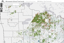 Map snapshot of northern minnesota School Trust Lands