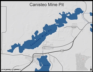 Location map of canisteo mine pit