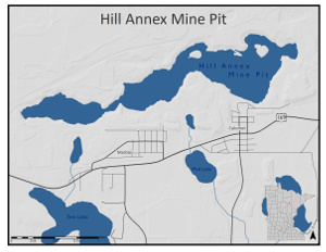 Location map of Hill Annex mine pit