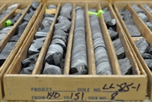 Box of drill core samples