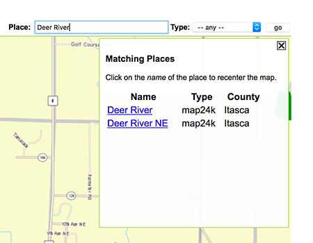 screen drab showing what usgs topgraphic map choose can be