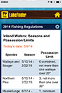 lake finder thumbnail of regulations screen