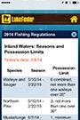 lake finder thumbnail of regulations screen